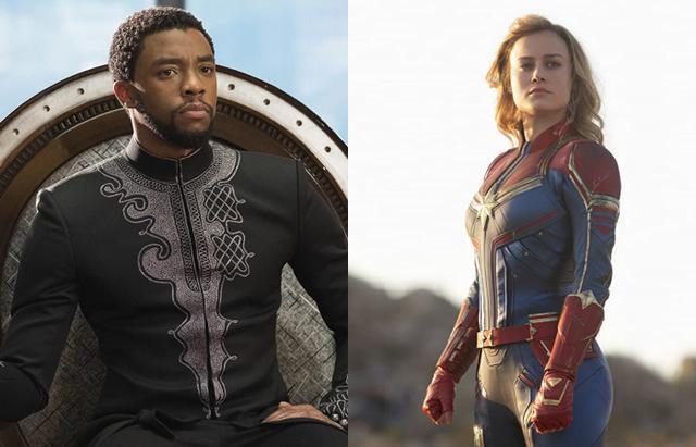 画像: 左:『ブラック・パンサー』、右:『キャプテン・マーベル』© Disney/Marvel Studios/ Album/ Newscom