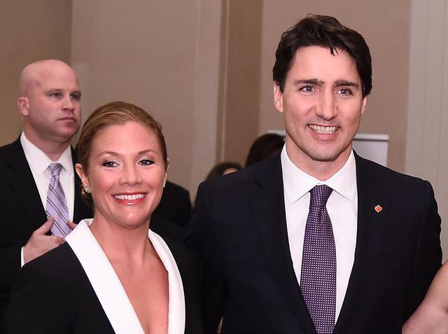 画像: カナダのジャスティン・トルドー首相の妻ソフィー・グレゴワ氏