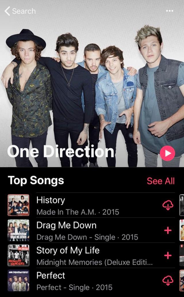 画像: Appleミュージックの表示画面。 twitter.com