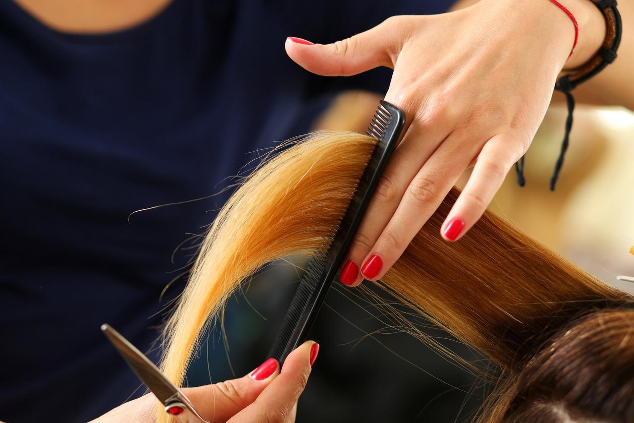 画像: ステップ3.後方の髪(上部)をカット