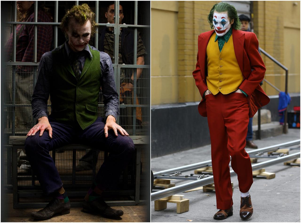 画像: 2008年『ダークナイト』のヒース・レジャー版ジョーカー(左)、2019年『ジョーカー』のホアキン・フェニックス版ジョーカー(右)