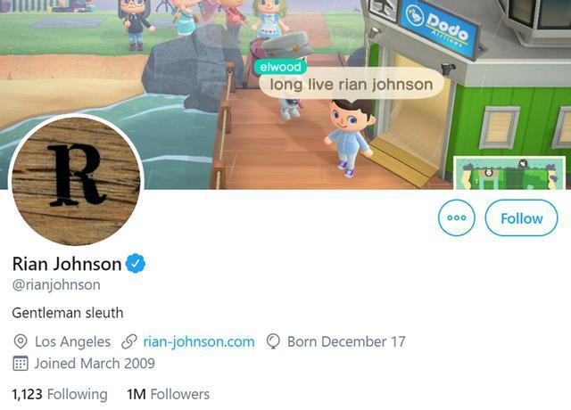画像: ⓒRian Johnson/Twitter