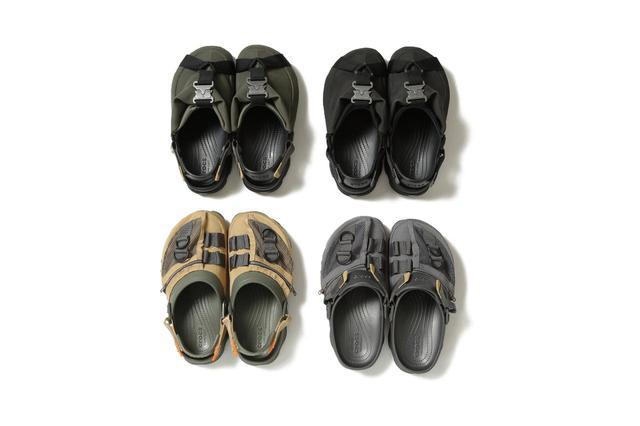 画像: (上2足)BEAMS x Crocs Classic All Terrain Buckle Clog (下2足)BEAMS x Crocs Classic All Terrain Pack Clog