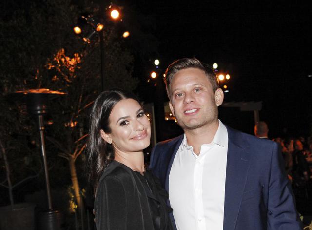 画像: リア・ミシェルと夫のザンディ・リッチ。