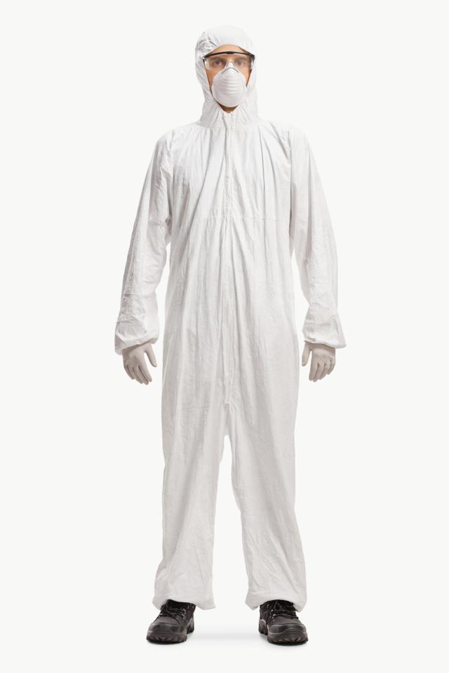 画像: ※ハズマットスーツの一例。