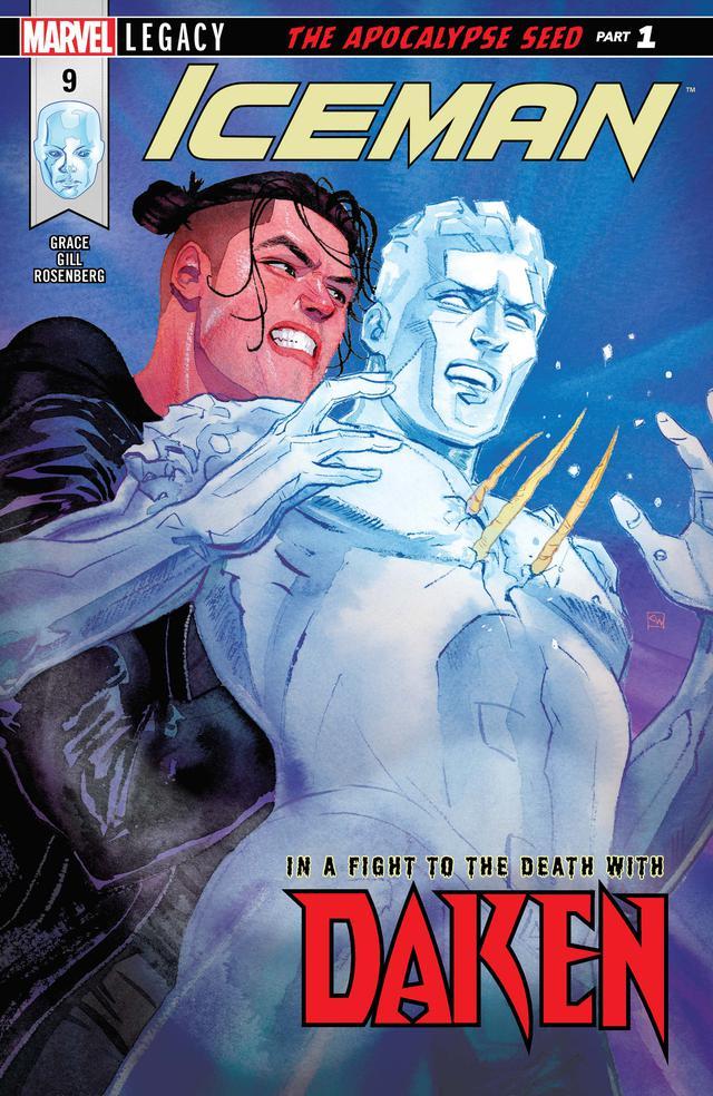 画像: 手前の人物がアイスマン。背後から攻撃をしている人物はウルヴァリンの息子ダケンで、彼もバイセクシャル。©︎Marvel Comics
