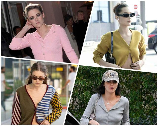 画像: 左上から時計回りに俳優のクリステン・スチュワート、モデルのベラ・ハディッド、モデルのケンダル・ジェンナー、モデルのジジ・ハディッド。