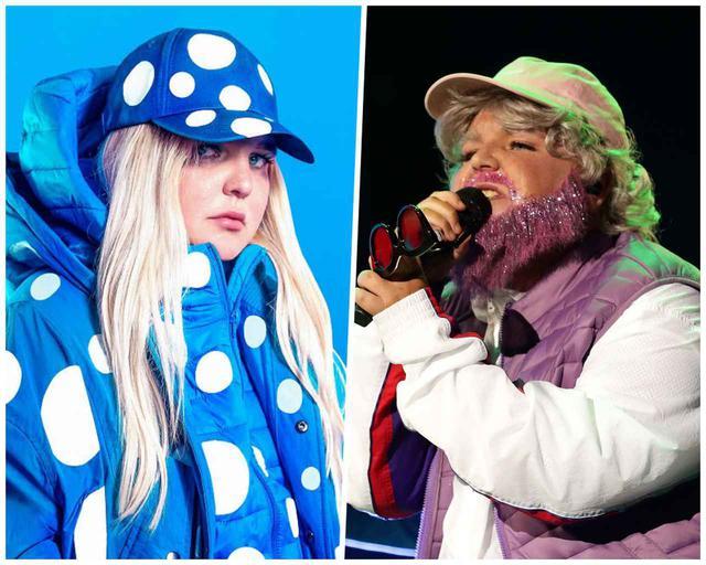 画像: トニ・エリザベス・ワトソンこと、トーンズ・アンド・アイ。左の写真は、彼女が特殊メイクで老人に扮した姿。