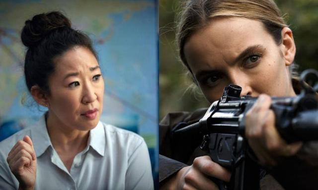 画像: ドラマ『キリング・イヴ/Killing Eve』は、ヨーロッパ各地で暗躍するサイコパスの暗殺者ヴィラネルと彼女を追うイギリスの情報機関MI6の女性捜査官イヴの攻防を描いたスパイスリラー。第76回ゴールデングローブ賞のテレビドラマ部門で主演のサンドラ・オー(左)が主演女優賞(テレビシリーズ・ドラマ部門)を受賞したほか、第71回プライムタイム・エミー賞ではジョディ・カマー(右)が主演女優賞(ドラマ部門)を受賞している。