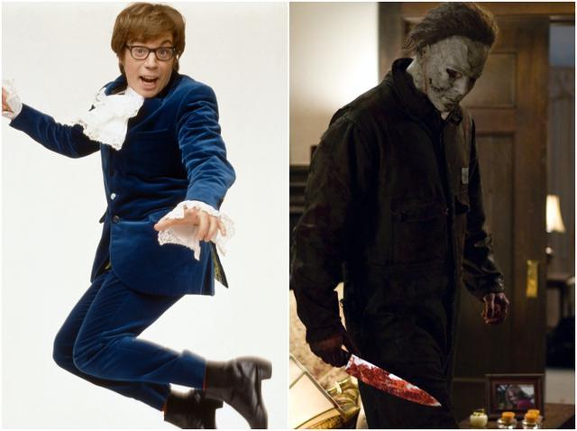 画像: マイク・マイヤーズ(左)、マイケル・マイヤーズ(右) ©︎NEW LINE CINEMA、©︎DIMENSION FILMS