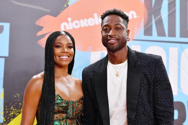画像: ガブリエルと夫で元NBA選手のドウェイン・ウェイド。