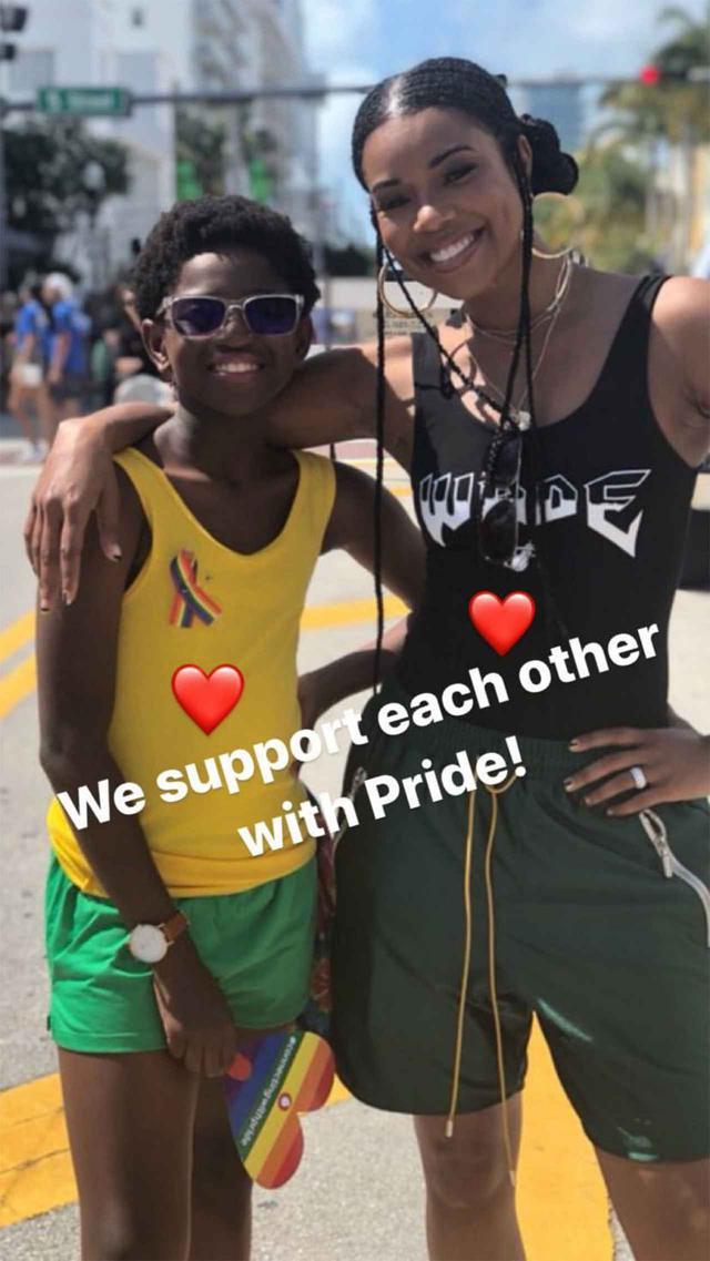 画像: ザヤとガブリエル。 Photo:Gabrielle Union/Instagram