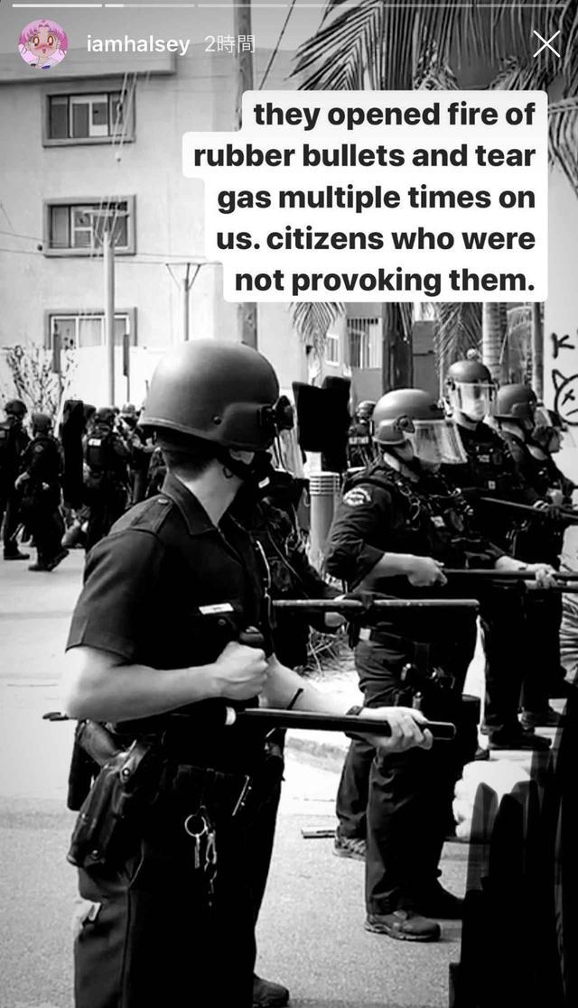 画像: ホールジーが最前線で抗議、ゴム弾を撃たれる