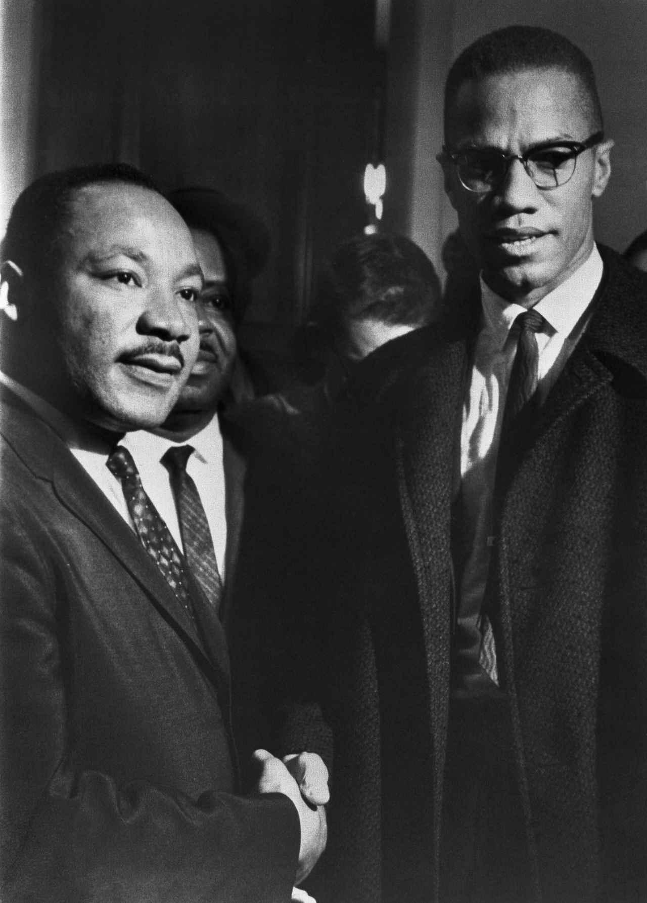 画像: キング牧師(左)とマルコム・X(右)
