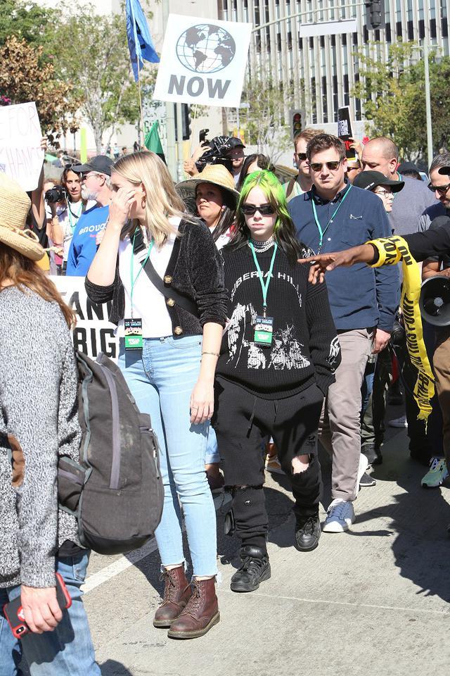 画像: 気候変動ストに参加した際のビリーの姿。
