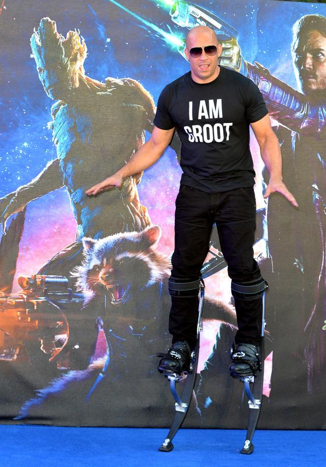 画像: グルートの声優を務めたヴィン・ディーゼル。