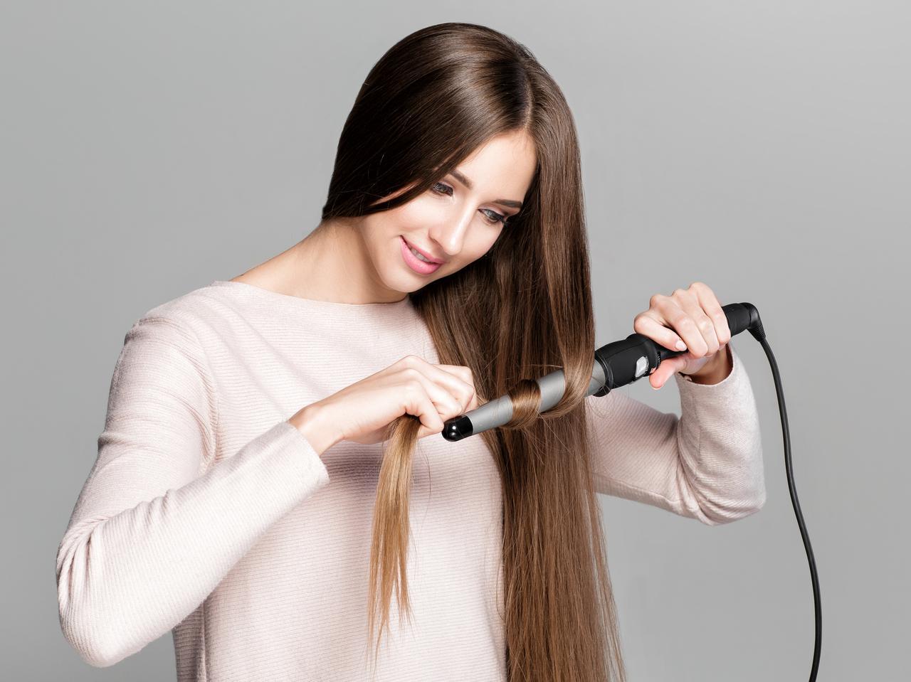 画像: NG3.一度にたくさんの髪を巻く