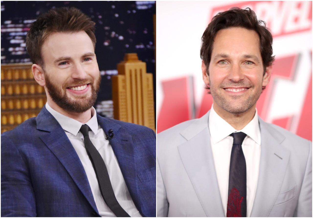 画像: 左:クリス・エヴァンス、右:ポール・ラッド