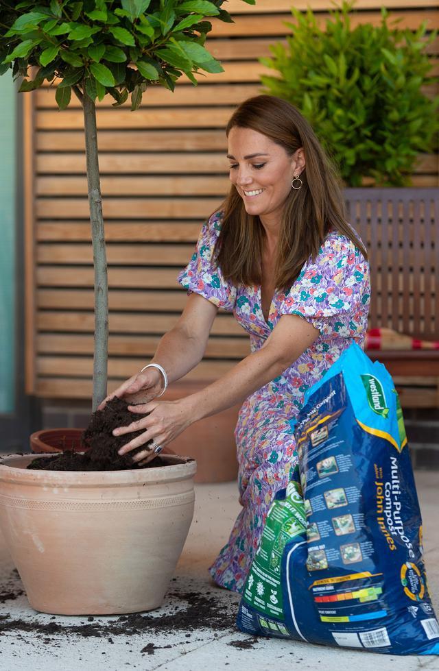 画像2: キャサリン妃が子どもホスピスの庭づくりを手伝う
