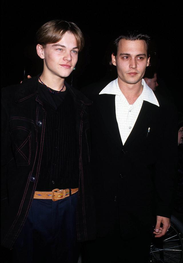 画像: 1993年、映画『ギルバート・グレイプ』の上映会にて。