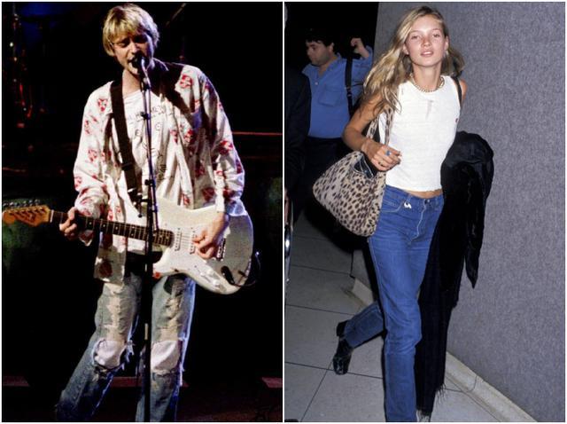 画像: 左:故カート・コバーン、右:ケイト・モス。