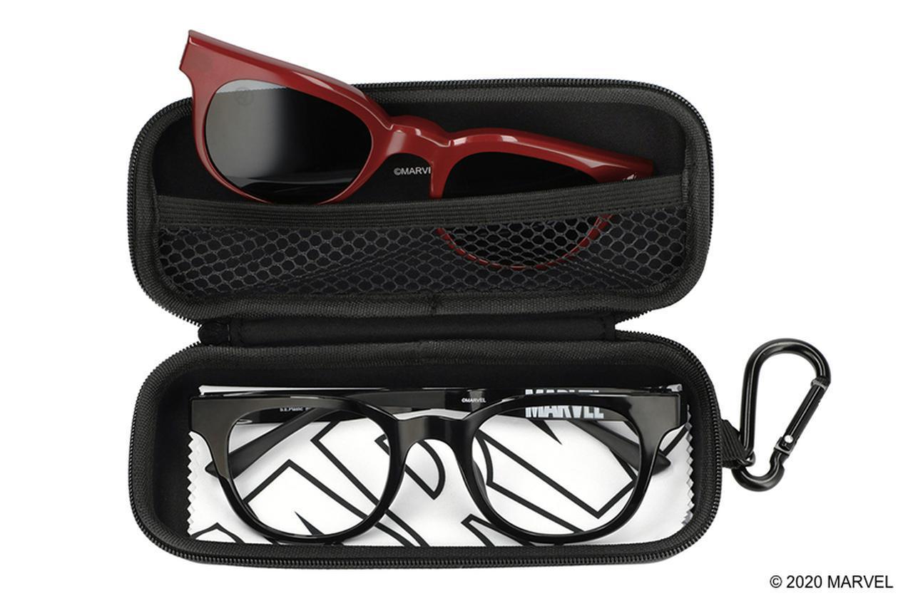 画像3: 持ち運びにも便利!マーベルのカラビナ付きメガネケース