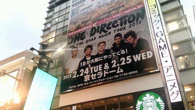 画像: チケットが即完したON THE ROAD AGAIN TOUR 2015の大阪公演を知らせるビルボード広告。