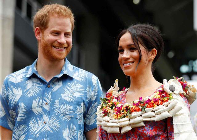 画像: ヘンリー王子とメーガン妃。