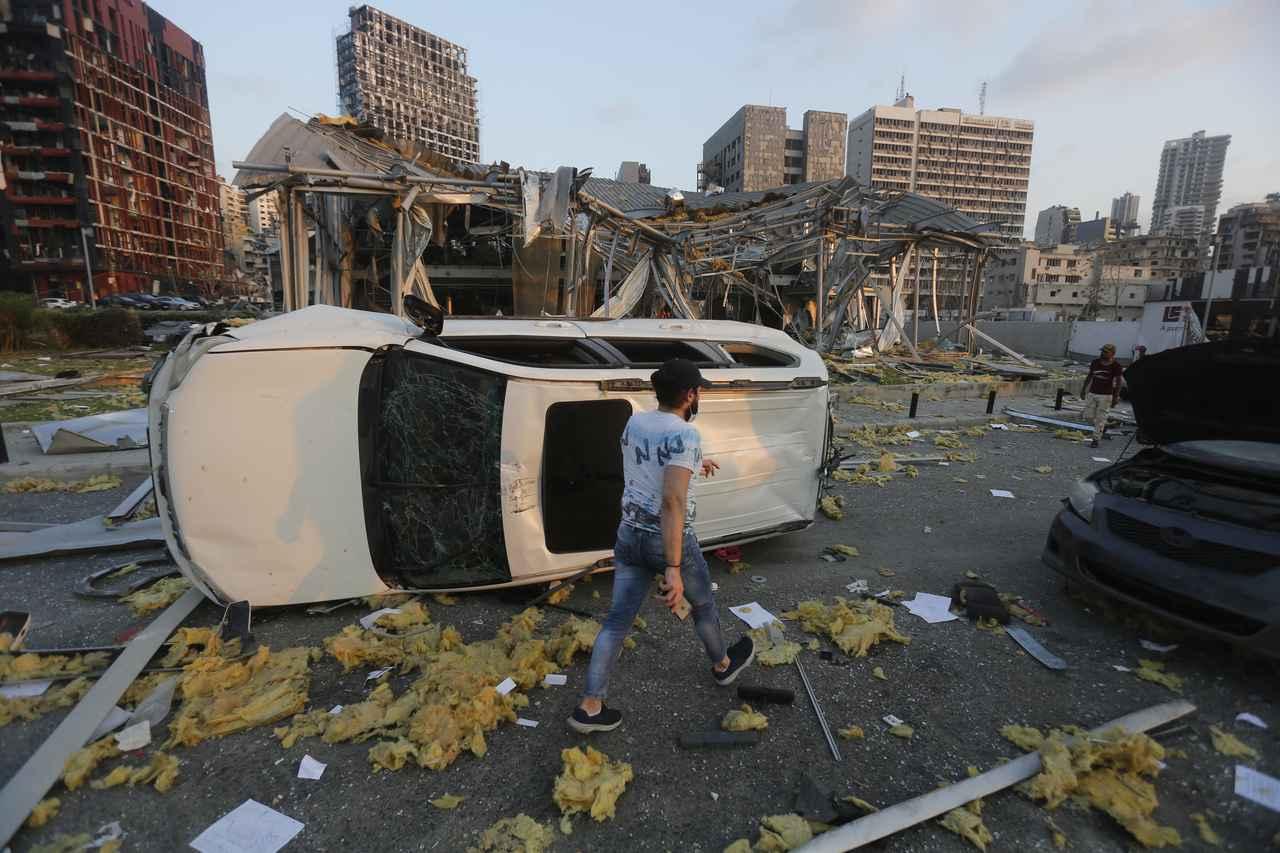 画像2: レバノンの首都ベイルートで大規模な爆発が発生