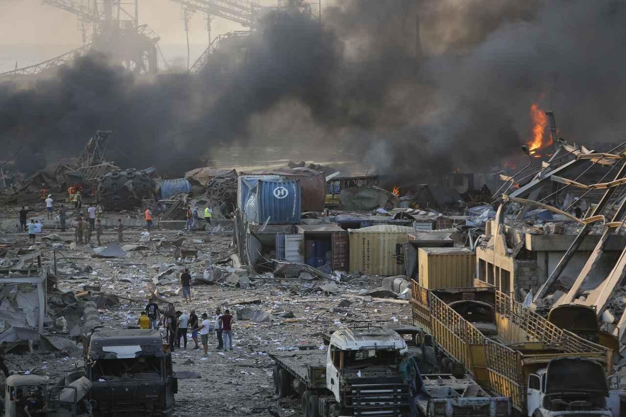 画像1: レバノンの首都ベイルートで大規模な爆発が発生
