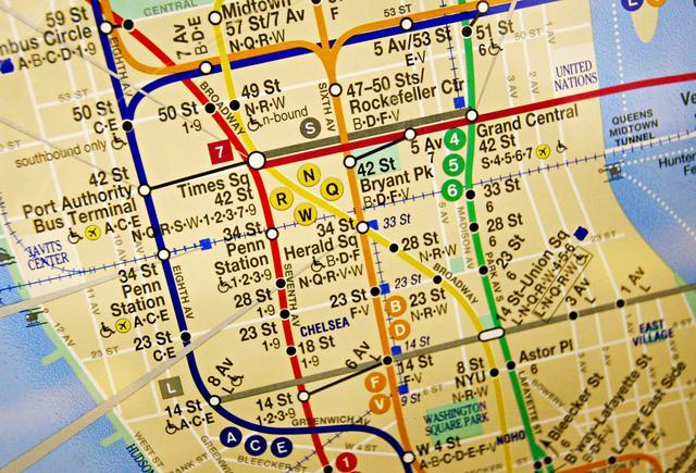 画像1: ニューヨークの地下鉄