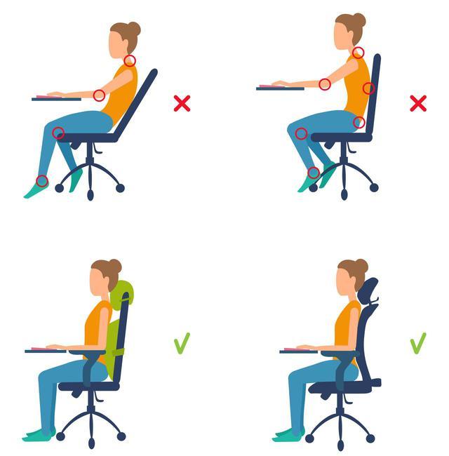 画像2: キレイな姿勢で座っているかチェック