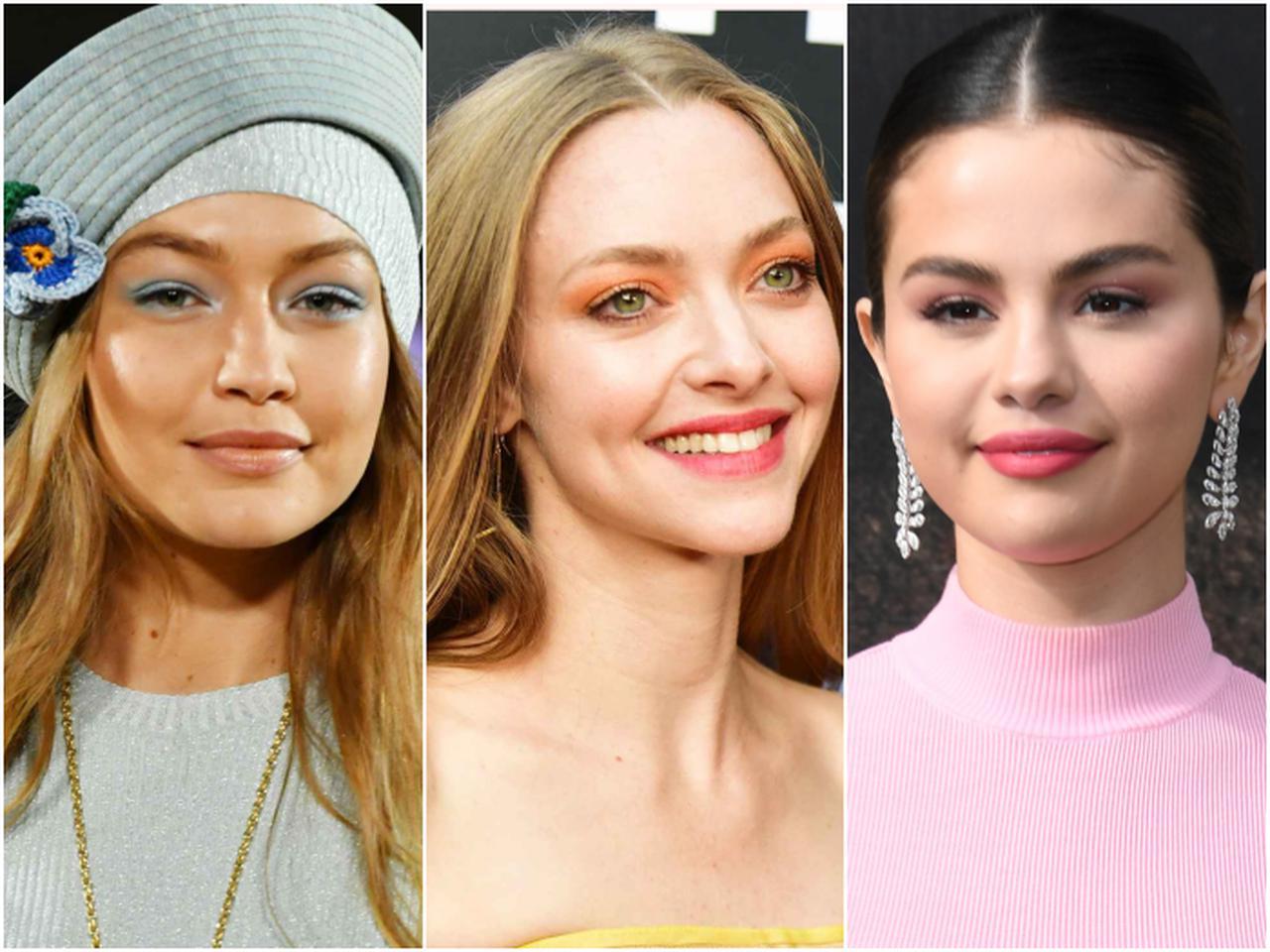 画像: 左からモデルのジジ・ハディッド、女優のアマンダ・サイフリッド、シンガーのセレーナ・ゴメス