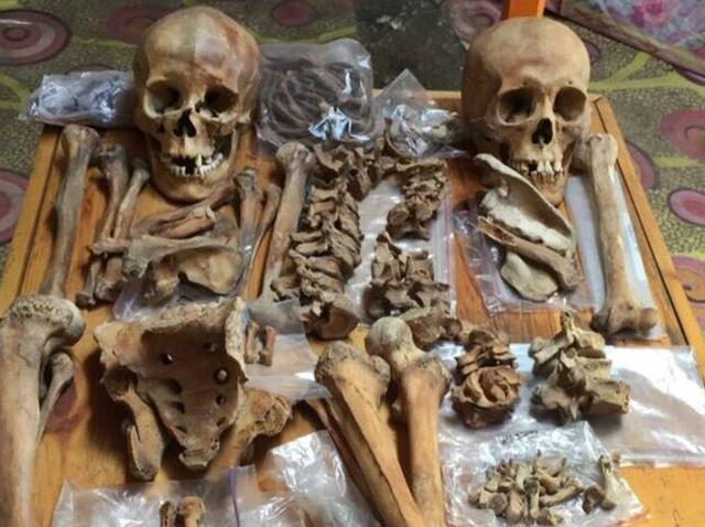 画像: 発掘された人骨 ©️Christine Lee