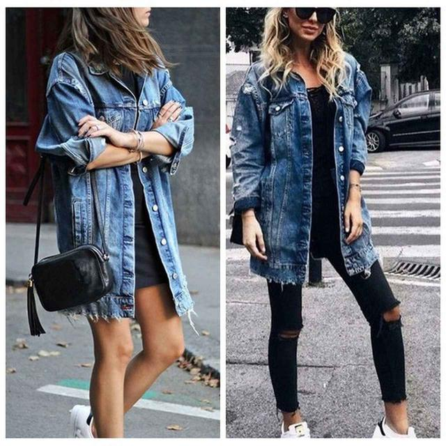 画像: 2020 New Autumn and Winter Women Denim Jacket Fashion Oversize Casual Long Coats S-3XL 2,971円 *価格や在庫が変動する場合があります