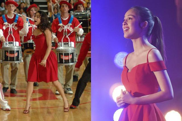 画像: ニニ(右)がオーディションで着た赤いドレスは、ガブリエラの赤いドレスへのオマージュ!
