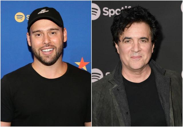 """画像: 左:テイラーの前所属レーベル、ビッグマシン・レコーズを買収したスクーター・ブラウン。シンガーのジャスティン・ビーバーを発掘した""""恩師""""としても知られ、アリアナ・グランデやデミ・ロヴァートといったトップアーティストもクライアントに持つ。右:ビッグマシン・レコーズCEOのスコット・ボルチェッタ。テイラーにとっては元恩師。"""