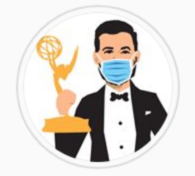 画像: ツイッターでは「Emmys」と打つとマスク姿のジミー・キンメルの絵文字が登場。