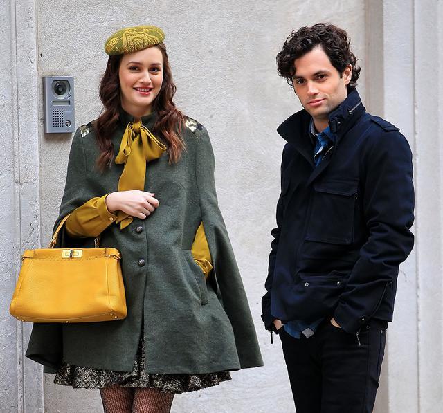 画像: 2011年、『ゴシップガール』を撮影中のレイトンとペン。
