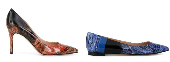 画像: ジャンヴィト ロッシ フォー エトロ アイテム:パンプス(H8.5cm)、フラットシューズ *価格未定 カラー:ブルー、レッド