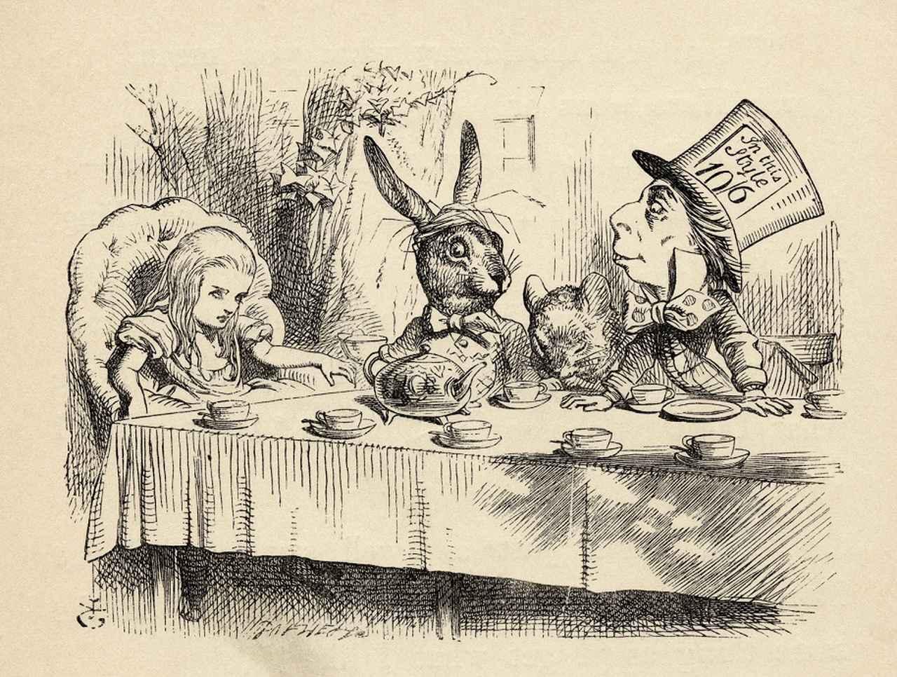 画像: 1891年に発売されたルイス・キャロル著『Alices's Adventures In Wonderland』より。挿絵はジョン・テニエルが手がけた。