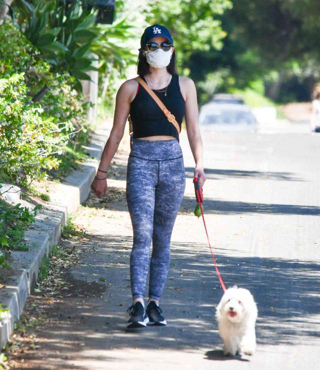 画像: 今年5月にロサンゼルスでエルヴィスと散歩するルーシー。