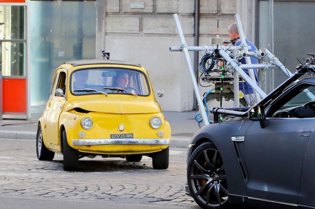 画像3: ローマ市内でカーアクションシーンの撮影も