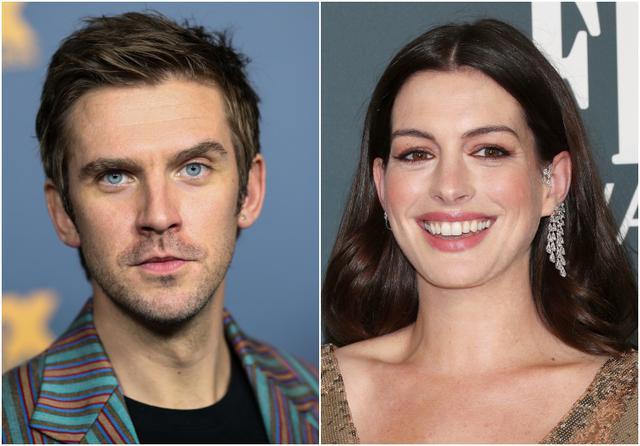 画像: 左:ダン・スティーヴンス、右:アン・ハサウェイ