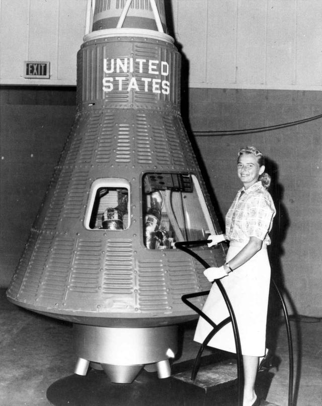 画像: 博士にわざわざ声をかけられたほど優秀で有名だった女性パイロットのジェラルディン・コブ。