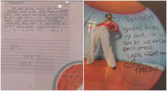 画像: テアドラが実際にハリーから受け取った手紙。 twitter.com