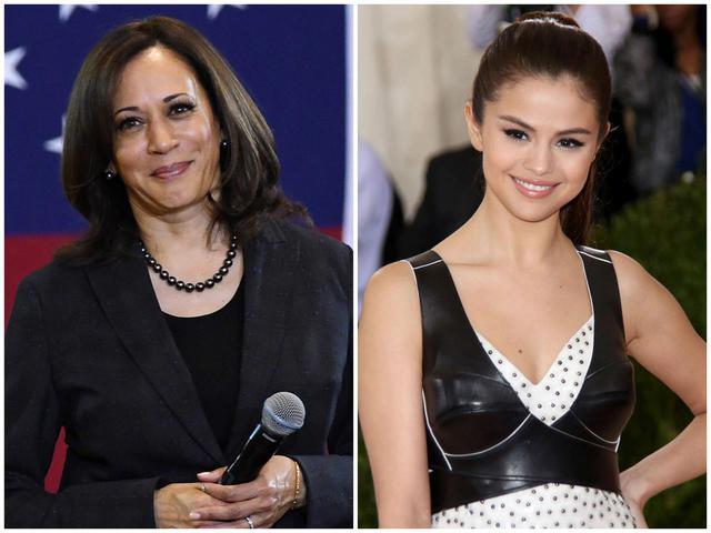 画像: カマラ・ハリス副大統領候補(左)とセレーナ・ゴメス(右)。