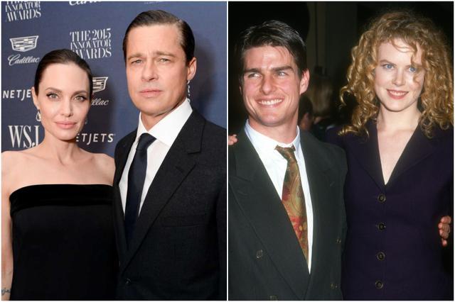 画像: 左:アンジェリーナ・ジョリー&ブラッド・ピット、右:トム・クルーズ&ニコール・キッドマン
