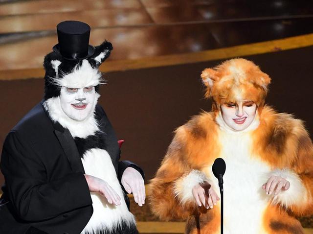 画像: ジェームズ・コーデン&レベル・ウィルソン、アカデミー賞で『キャッツ』を自虐 - フロントロウ -海外セレブ情報を発信