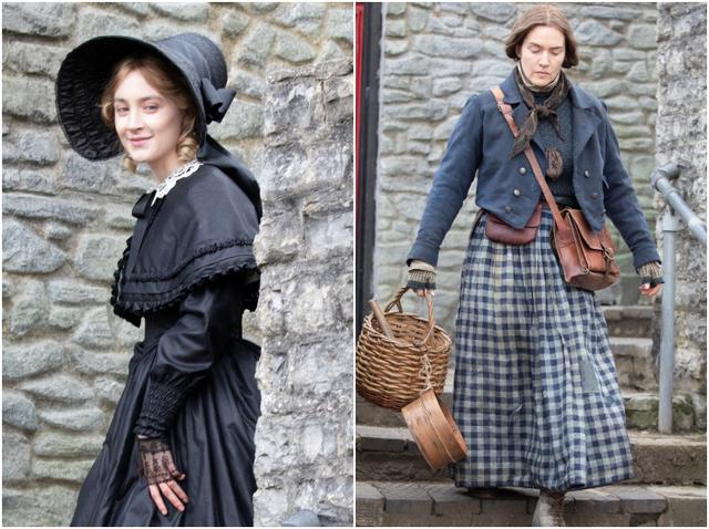画像: 2019年3月、イギリス・ロンドンで『アンモナイト』の撮影を行なうシアーシャとケイト。